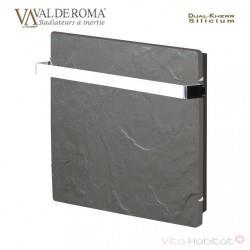 Sèche-serviette à inertie Wifi Ardoise Noire 1000W Carré - Valderoma AN10BSW