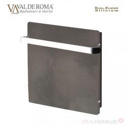 Radiateur à inertie Wifi Ardoise Noire 800W Carré - Valderoma AN800W
