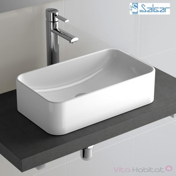 vasque en porcelaine Vasque à poser SENSATION en porcelaine pour salle de bain - SALGAR - 21739