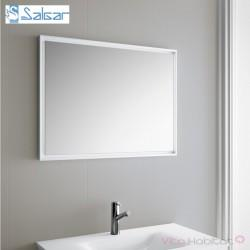 Miroir ROMA 1000 x 600 mm avec cadre blanc - SALGAR 23209