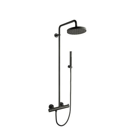 Colonne de douche avec mitigeur thermostatique blackmat triverde cristina o - Colonne de douche de qualite ...