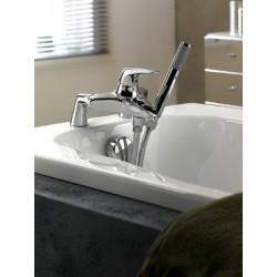Support pour douchette en laiton chromé sous robinet - CRISTINA ONDYNA SU28551