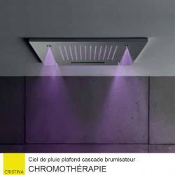 Ciel de pluie carrée 50 cm avec cascade et brumisateur Chromothérapie HYDROTHERAPIE - CRISTINA ONDYNA TT50051
