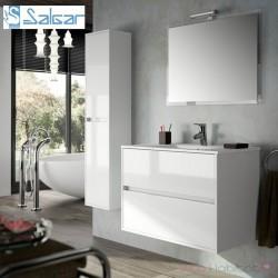 Meuble suspendu et vasque NOJA 800 Blanc laqué - SALGAR 17034