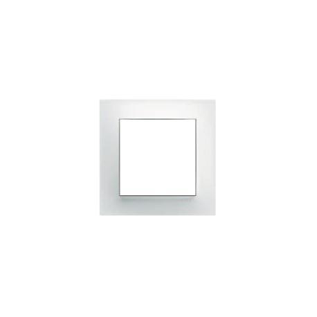Plaque 1P pour prise de courant blanc névé design POP KALLYSTA - HAGER WKN401
