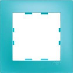 Plaque 1P pour prise de courant lagon design POP KALLYSTA - HAGER WKN511