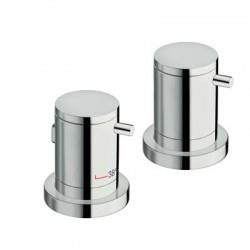 BAIN DOUCHE TRIVERDE SUR GORGE THERMOSTATIQUE 2 SORTIES CHROME - CRISTINA ONDYNA XT14251