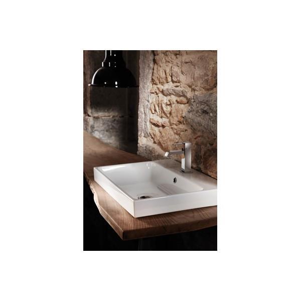 Vasque Céramique Blanc Brillant Pour Lavabo à Suspendre Ou à