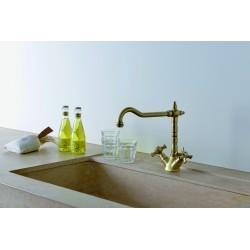 Mélangeur pour évier de cuisine avec bec potence vieux bronze CHAMBORD - CRISTINA ONDYNA CH13092