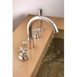 Mélangeur bain douche 4 trous sur gorge avec douchette EXECUTIVE - CRISTINA ONDYNA EV10451
