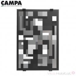 Radiateur électrique CAMPA CAMPAVER Select 3.0 Vertical Noir Astrakan 1000W CMSD10VSEPB
