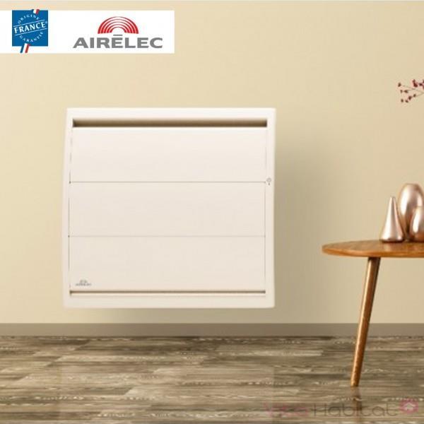 radiateur electrique fonte airelec airevo smart ecocontrol 750w horizontal blanc a693422. Black Bedroom Furniture Sets. Home Design Ideas