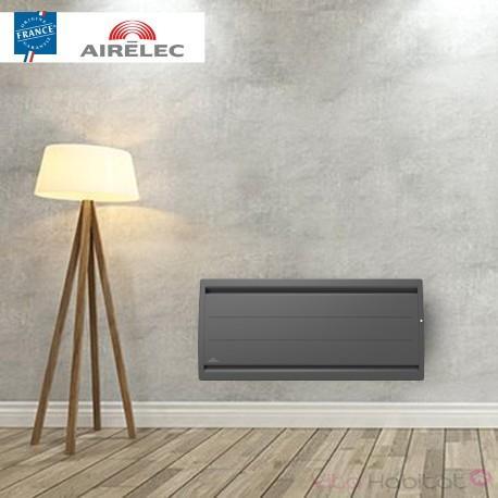 Radiateur electrique Fonte AIRELEC - AIREVO Smart ECOcontrol 750W Bas Anthracite - A693472