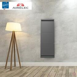 Radiateur electrique Fonte AIRELEC - AIREVO Smart ECOcontrol 1000W Vertical Anthracite - A693463
