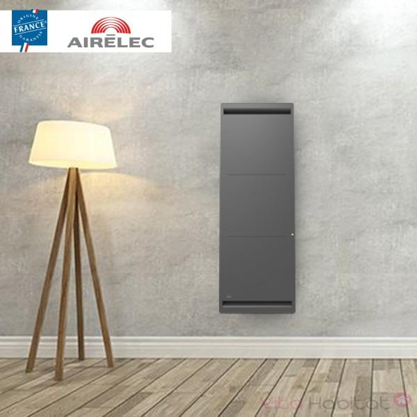 radiateur electrique fonte airelec airevo smart ecocontrol 2000w vertical anthracite a693467. Black Bedroom Furniture Sets. Home Design Ideas
