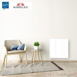 Radiateur electrique Fonte AIRELEC - OZEO Smart ECOcontrol 1500W Horizontal Blanc - A693485