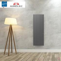 Radiateur electrique Fonte AIRELEC - OZEO Smart ECOcontrol 1000W Vertical Anthracite - A693523