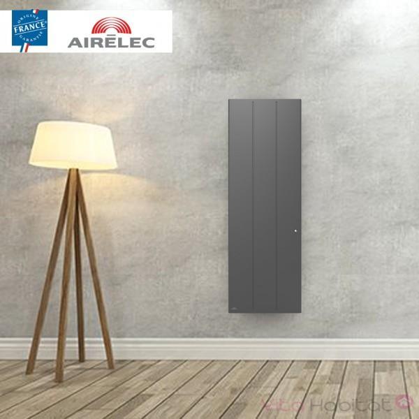 radiateur electrique fonte airelec ozeo smart ecocontrol 1500w vertical anthracite a693525. Black Bedroom Furniture Sets. Home Design Ideas