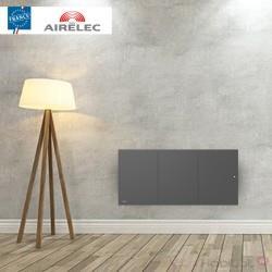 Radiateur electrique Fonte AIRELEC - OZEO Smart ECOcontrol 750W Bas Anthracite - A693532
