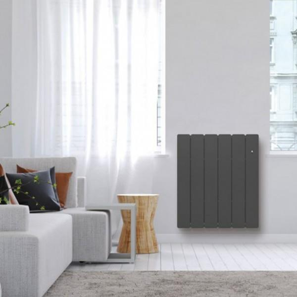radiateur fonte noirot bellagio smart ecocontrol 2000w horizontal gris anthracite n1687sehs. Black Bedroom Furniture Sets. Home Design Ideas