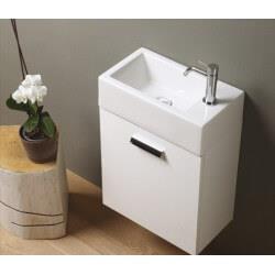 Meuble Lave-mains rectangulaire à suspendre - mini 25/45/60 BLANC ouverture droite - CRISTINA ONDYNA  MS5251B