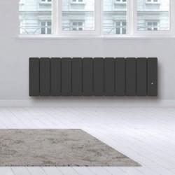 Radiateur Fonte NOIROT - BELLAGIO Smart ECOControl 1500W Plinthe Gris Anthracite - N1715SEHS (haut. 300)
