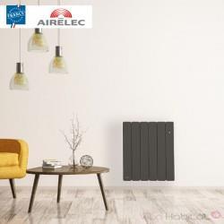 Radiateur Fonte AIRELEC - FONTEA Smart ECOControl 1000W Horizontal Gris Anthracite - A693543