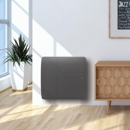 radiateur lectrique noirot douchka smart ecocontrol gris. Black Bedroom Furniture Sets. Home Design Ideas