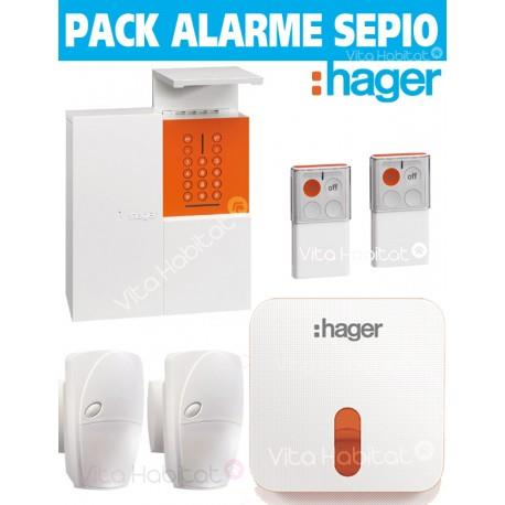 OFFRE Pack Alarme Radio SEPIO RLP305F MAISON avec Sirene Exterieure - RADIO- Logisty Hager