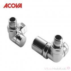 Pack robinetterie manuelle thermostatisable équerre d'angle gauche - ACOVA 841618