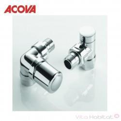 Pack robinetterie manuelle thermostatisable équerre d'angle gauche - ACOVA 841588