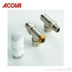 Kit robinetterie manuelle équerre inversée tête thermostatique  - ACOVA 841108