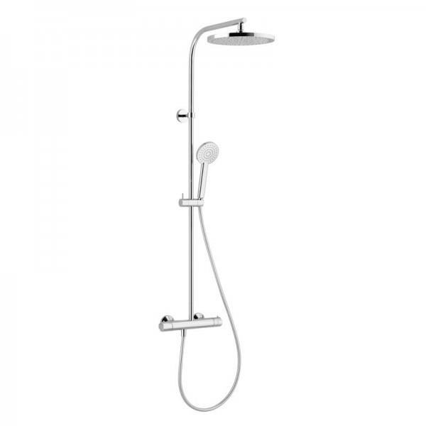 Colonne de douche soft thermostatique ronde nf chrome cristina ondyna sf46751 vita habitat - Colonne de douche ondyna ...