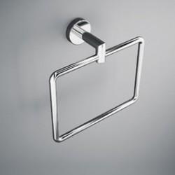Anneau porte serviette laiton chromé pour salle de bain - SALGAR SIL 12791