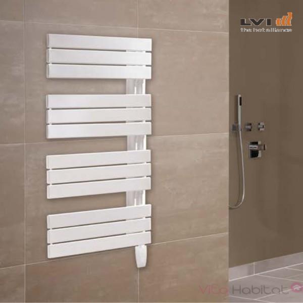 Salle de bains moderne 750 x 600 mm sèche-serviettes Radiateur Droite Anthracite plat