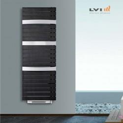 Sèche-serviettes Soufflant LVI - SILAY RF T SMART 1700W (750W + 950W) FLUIDE - 4870062 ouverture des tubes à gauche