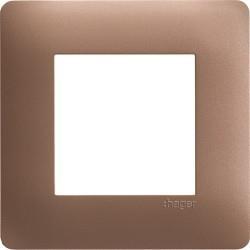 ess. Plq 1 p. Bronze HAGER WE461
