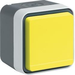cubyko PC 2P+T saillie jaune HAGER WNC100J