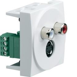 Systo 2M Pr S-Video+Aud RCA HAGER WS279