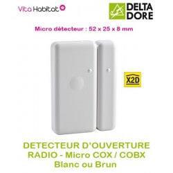 Détecteur d'ouverture Radio micro COX  Delta Dore BRUN CHOCOLAT - pile lithium fournie