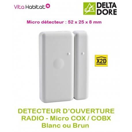 Détecteur d'ouverture Radio micro COX ou micro COBX - Delta Dore - pile lithium fournie