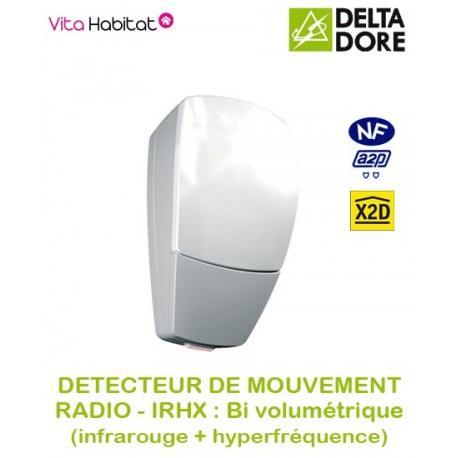 IRHX - Détecteur de mouvement Radio double technologie - Delta Dore - piles lithium fournies - 6412221
