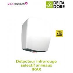 IRAX - Détecteur de mouvement Infrarouge Radio - sélectif animaux - Delta Dore - piles fournies - 6412232