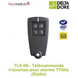 TLX 4B - Télécommande 4 touches pour alarme TYXAL (pile fournie) - 6413239