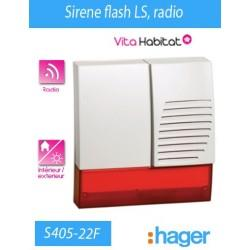 Sirene flash LS, radio - Hager logisty (pile fournie) - S405-22F