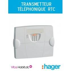 Transmetteur téléphonique RTC, alarme radio Hager logisty - S495-22F