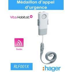 Médaillon d'appel d'urgence - Hager logisty - RLF001X