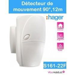 S161-22F Détecteur de mouvement - Hager SEPIO  Logisty - angle 90° 12m - pile lithium fournie