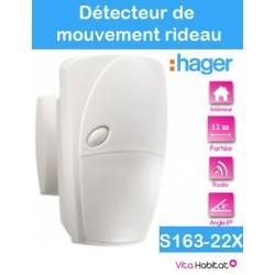 Détecteur de mouvement - rideau 12 m angle 8° - S163-22X - SEPIO - Logisty Hager - pile lithium fournie
