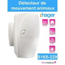 Détecteur de mouvement special animaux - 90 degrés 12 m -  S165-22X - Logisty Hager - pile lithium fournie